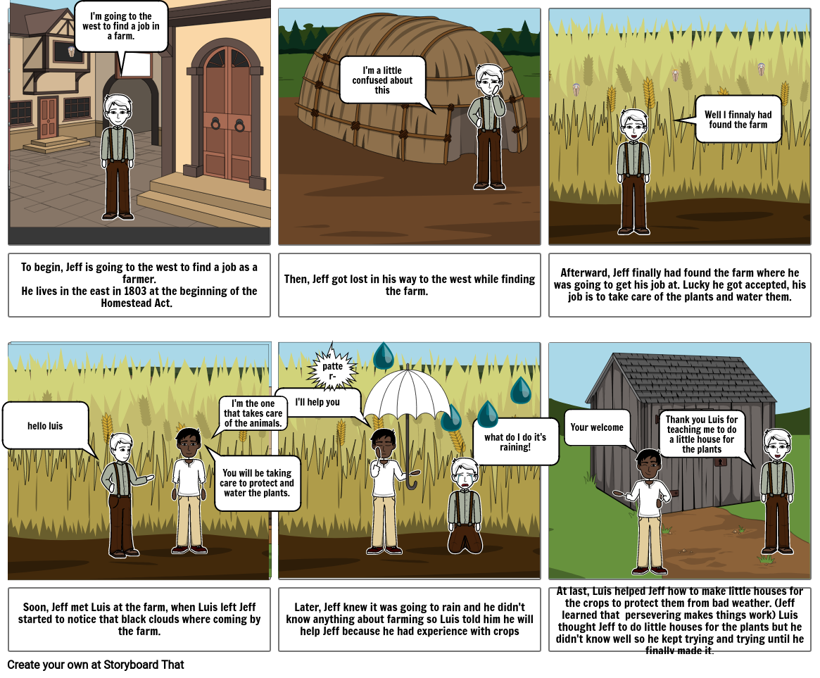 Homestead act story