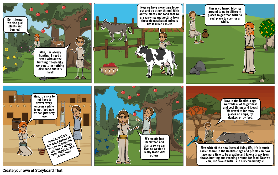 Zac´s Neolithic and Paleolithic age comic strips