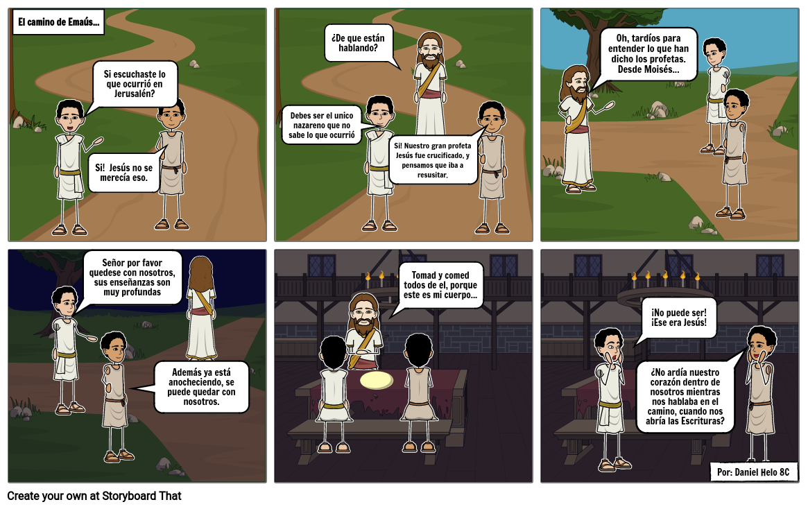 Comic Religion Camino de Emaus