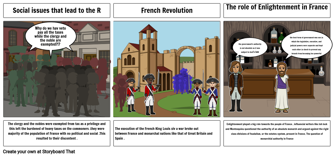 The French Revolution and the enlightenments  impact on the people of Franc