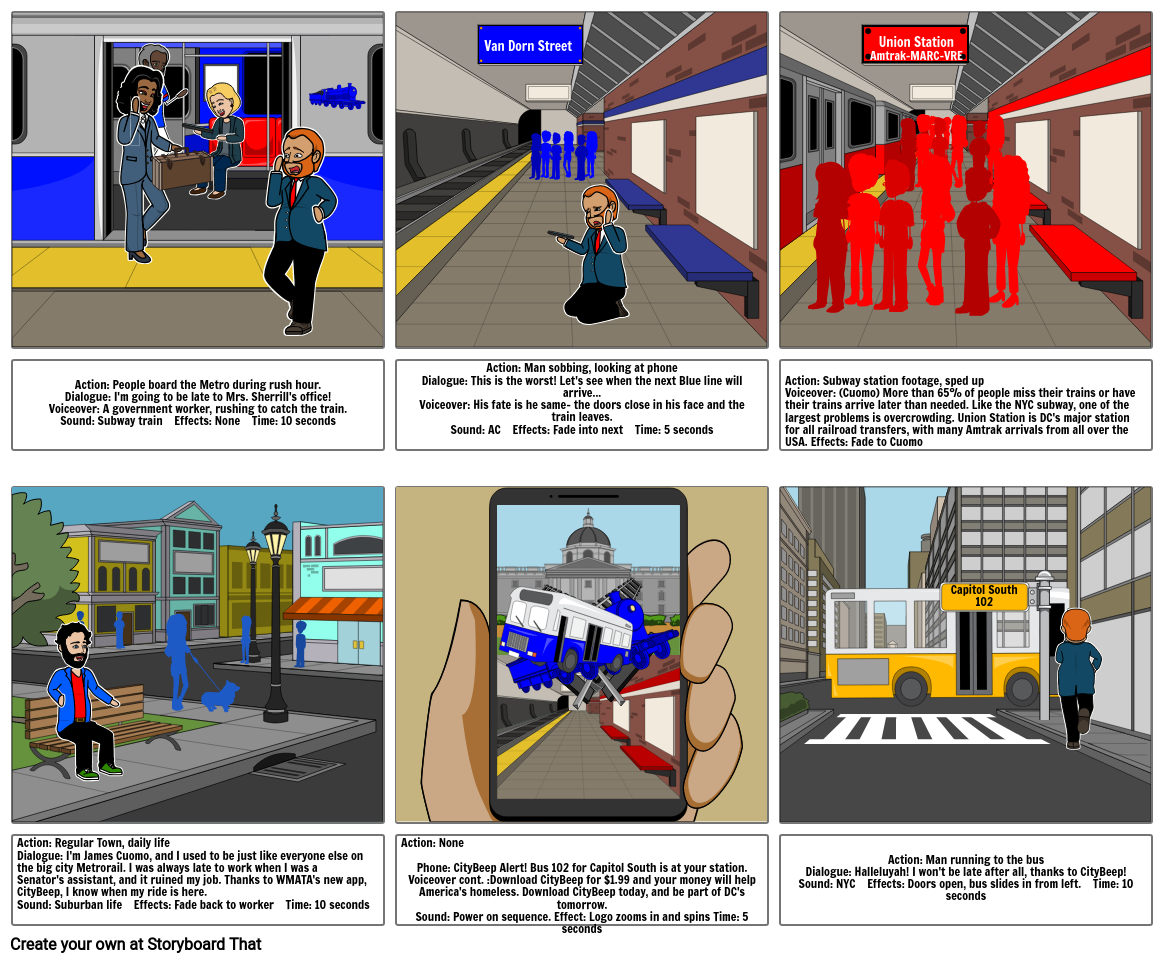 CityBeep Storyboard by 5d0c2cb6