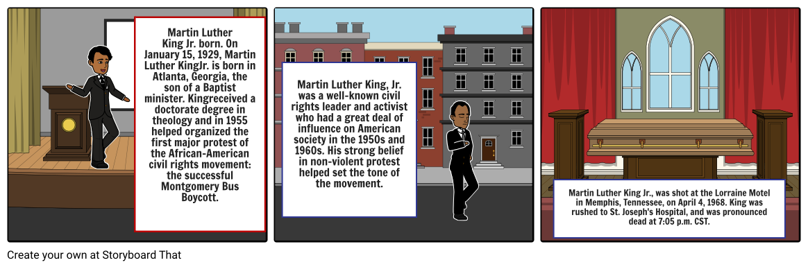 marten luther king comic