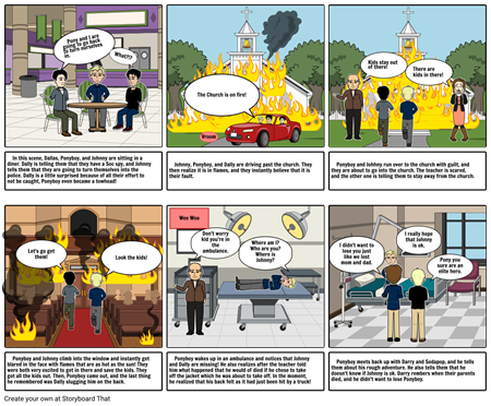 Outsiders Storyboard