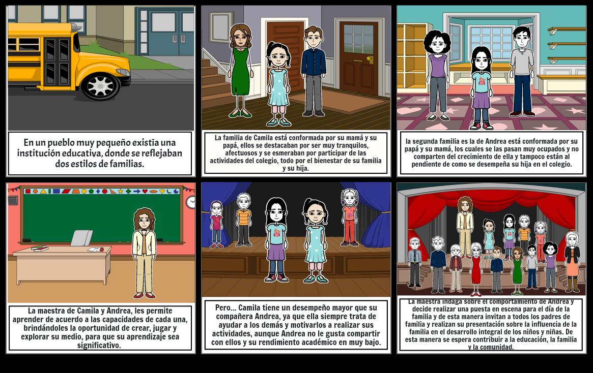Historieta educación, familia y comunidad