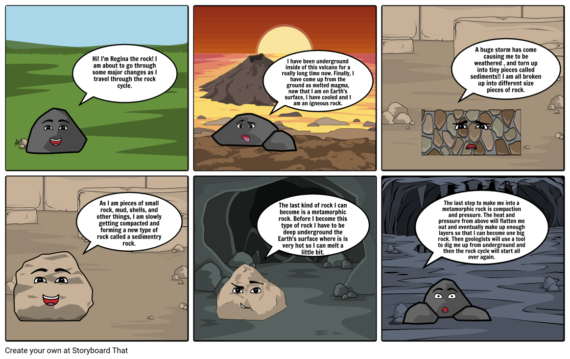 Rock Cycle Storyboard