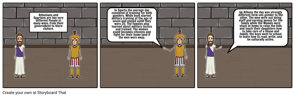 I can compare and contrast the daily life of Spartans and Athenians.