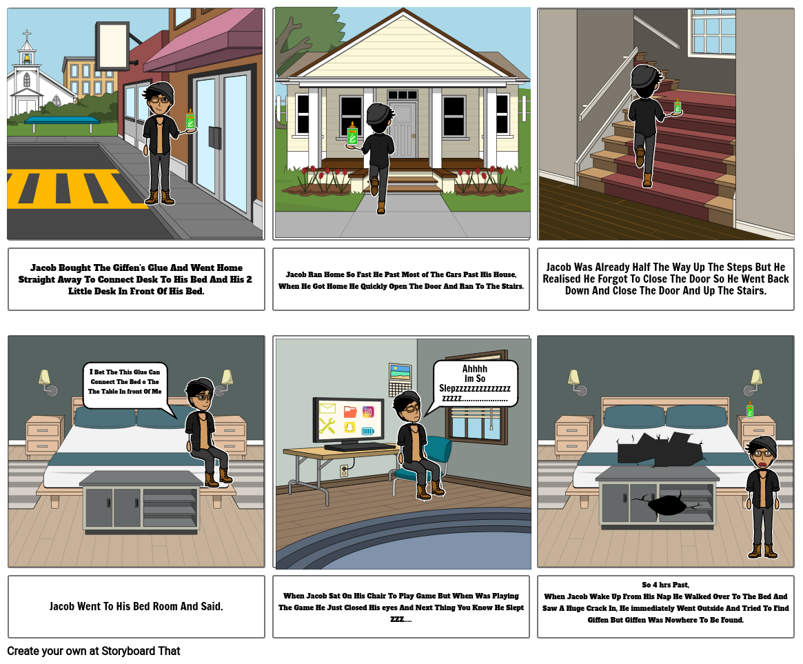Storyboard For Strap Box Flyer
