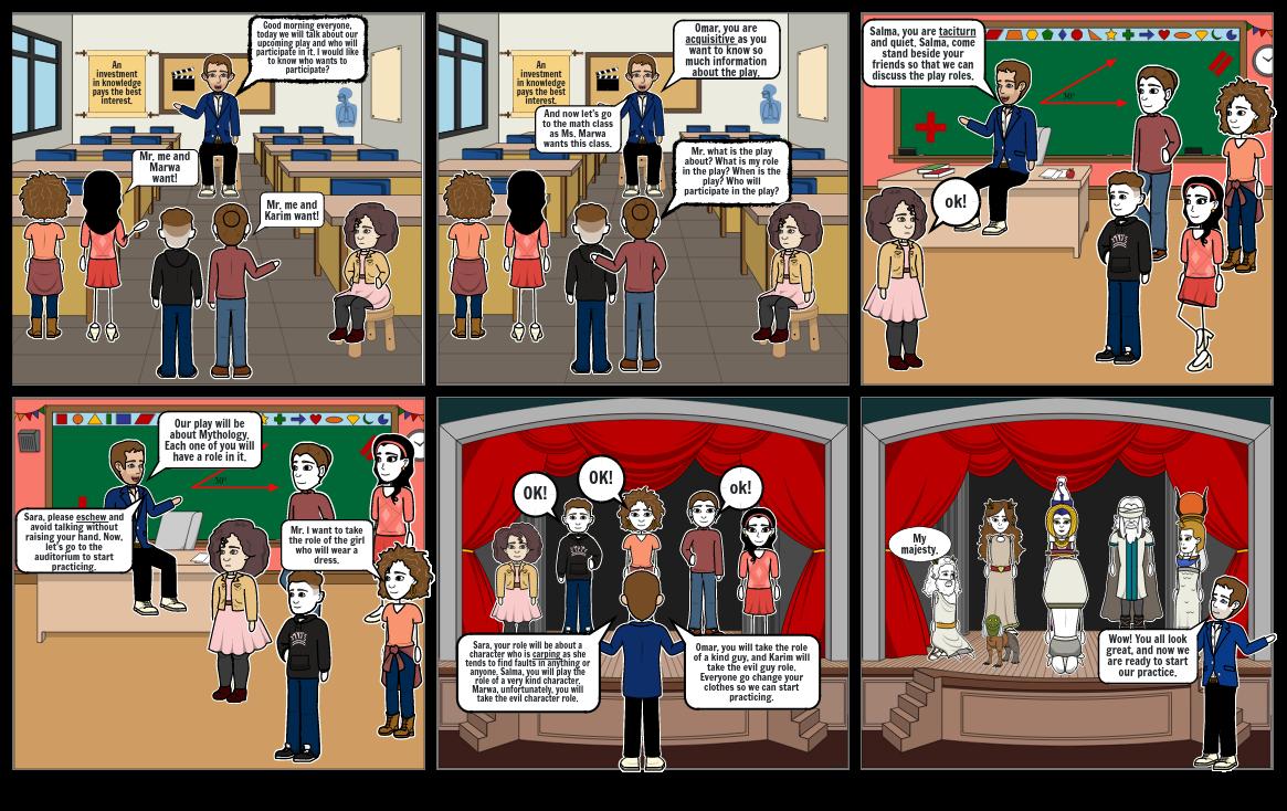 Vocab. Unit 1 Set B Storyboard