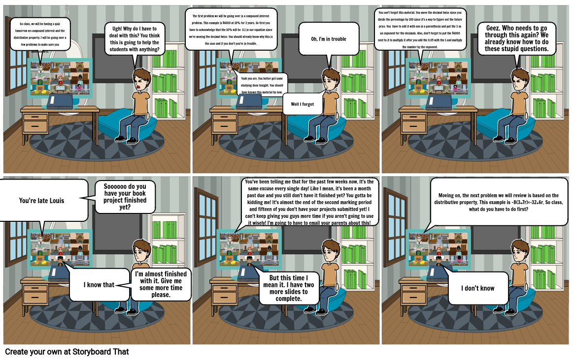 Math project comic strip part 1