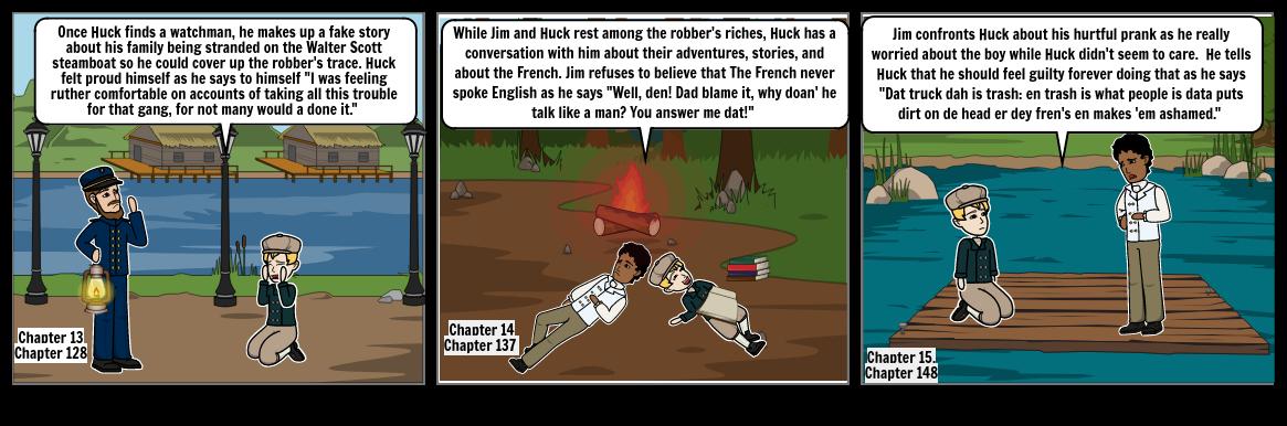 Chapter 13-15 of HuckleBerry FInn