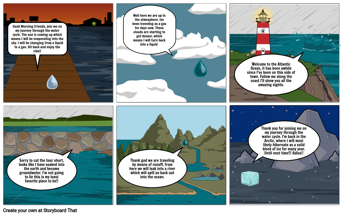 Water Cycle Story Board