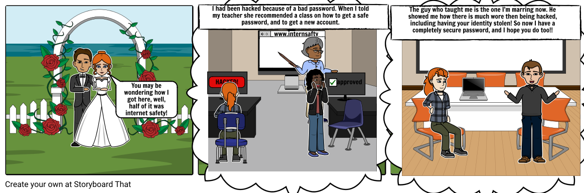 Internet Safety Storyboard By 640c0d4d