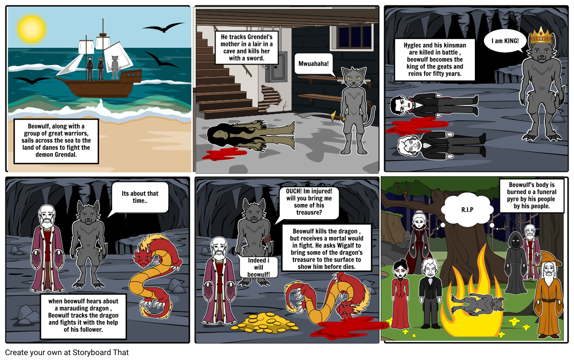 Beowulf comic strip project