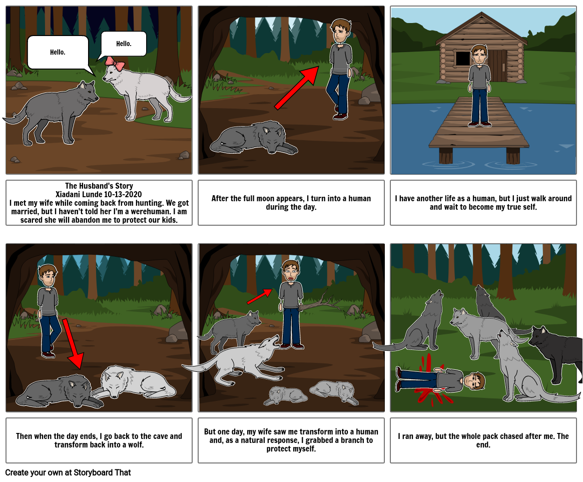 The Husband's Story Storyboard