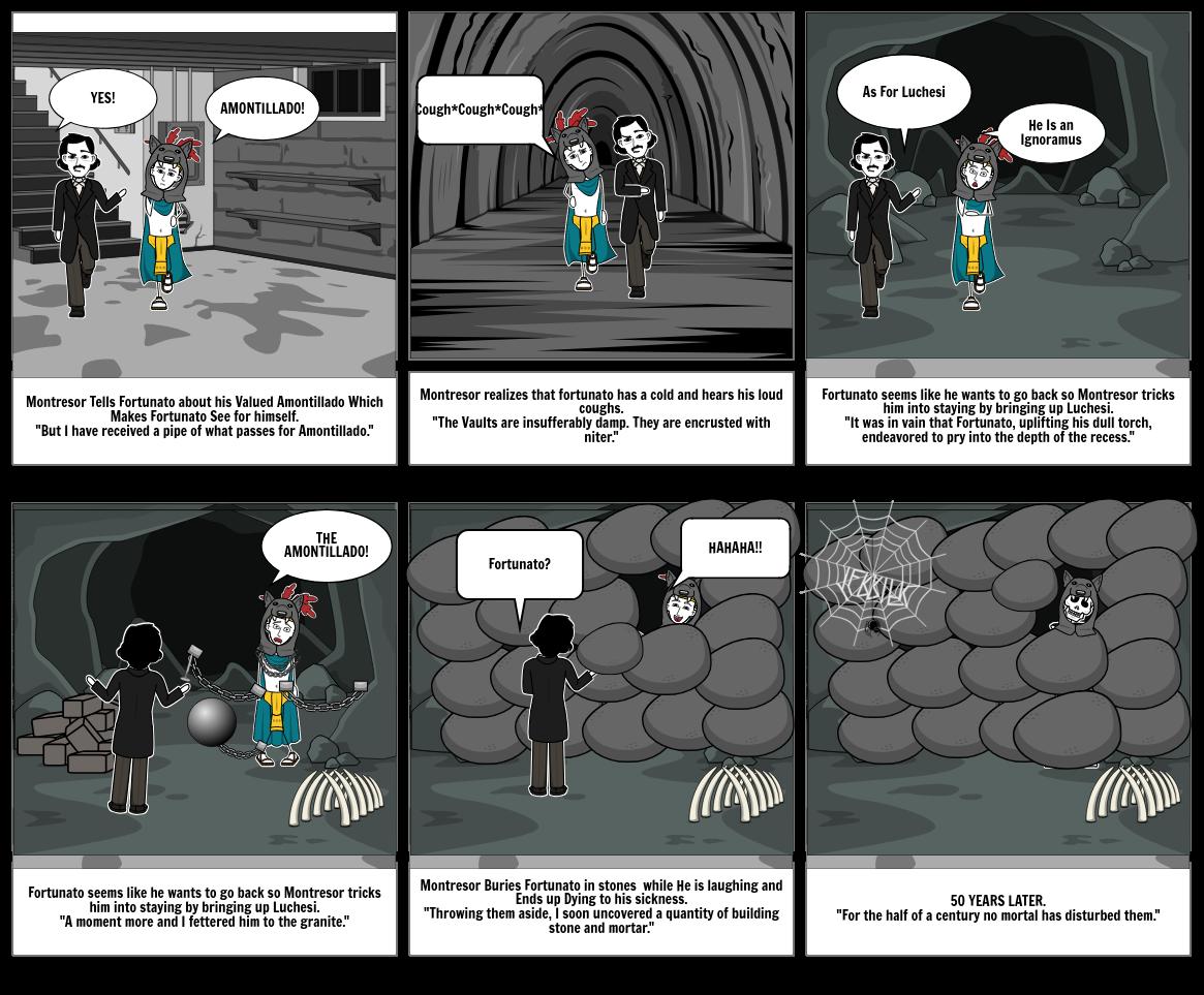 Ela Amontillado Storyboard By 65fe8d22