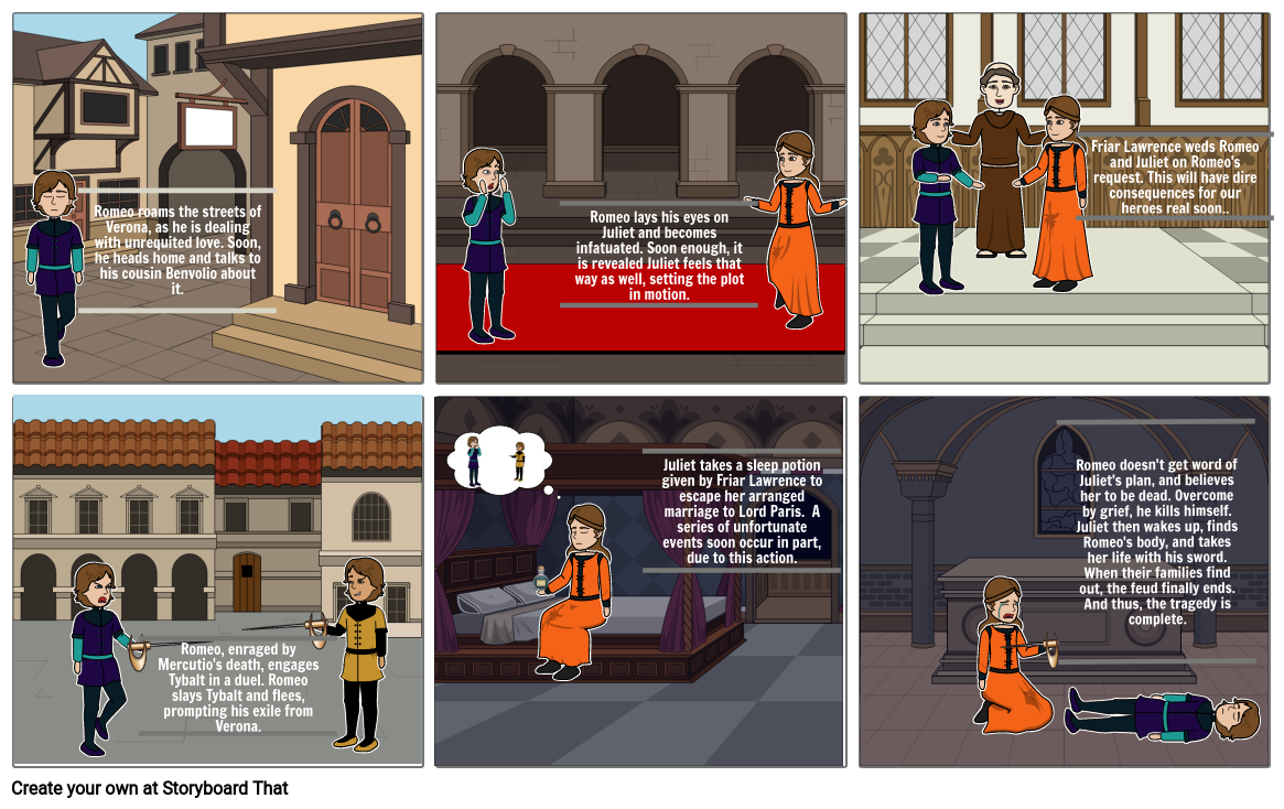 Romeo and Juliet Storyboard