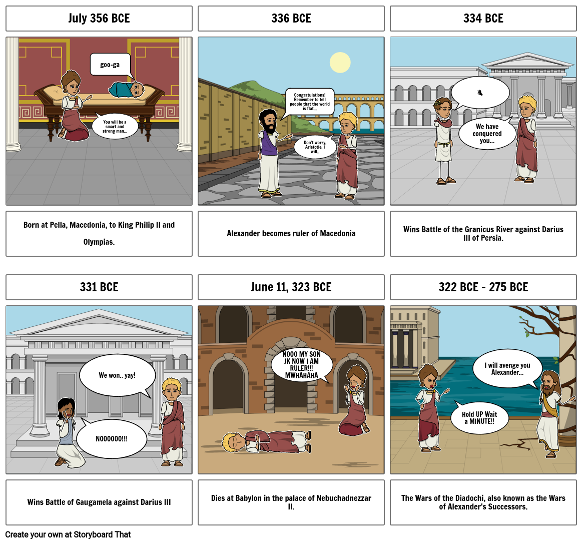 Alexander the Great Comic Strip