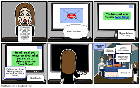 Cybersafety - 2nd Storyboard
