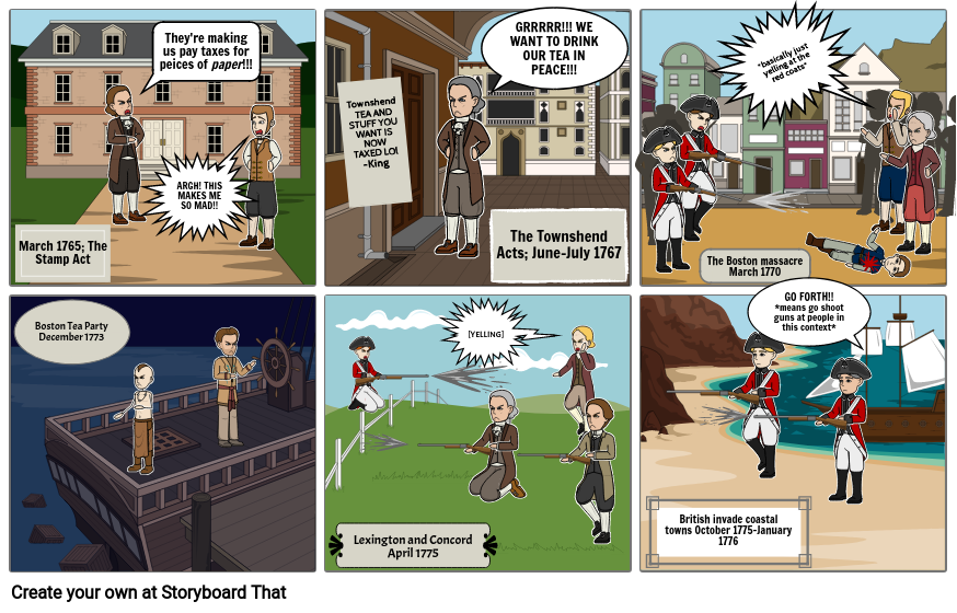 Events that led to Revolutionary war (SPEECH IS VERY MODERNIZED)