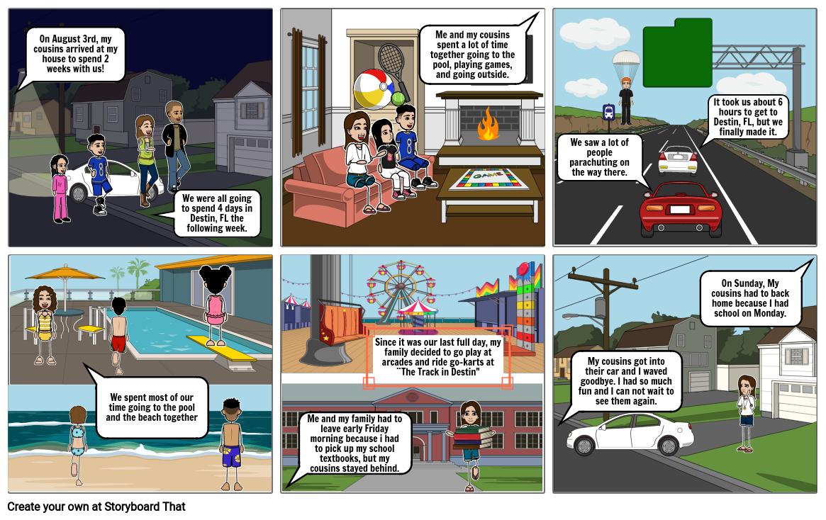 Personal Experience Storyboard - Traveling with my family