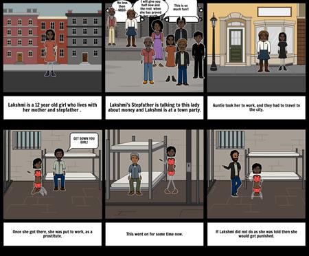 Sold storyboard comic