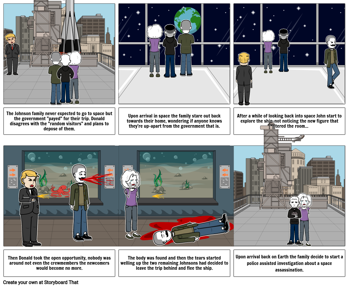 Jurassic story board-space edition