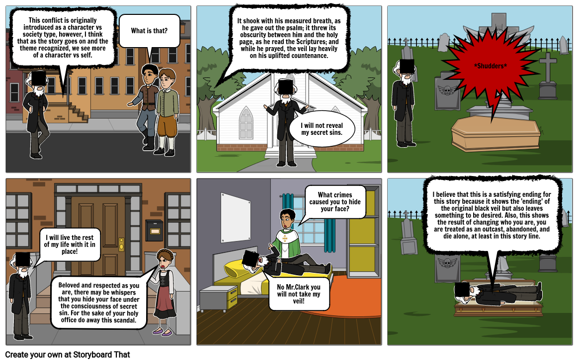 The Minister's Black Veil Storyboard