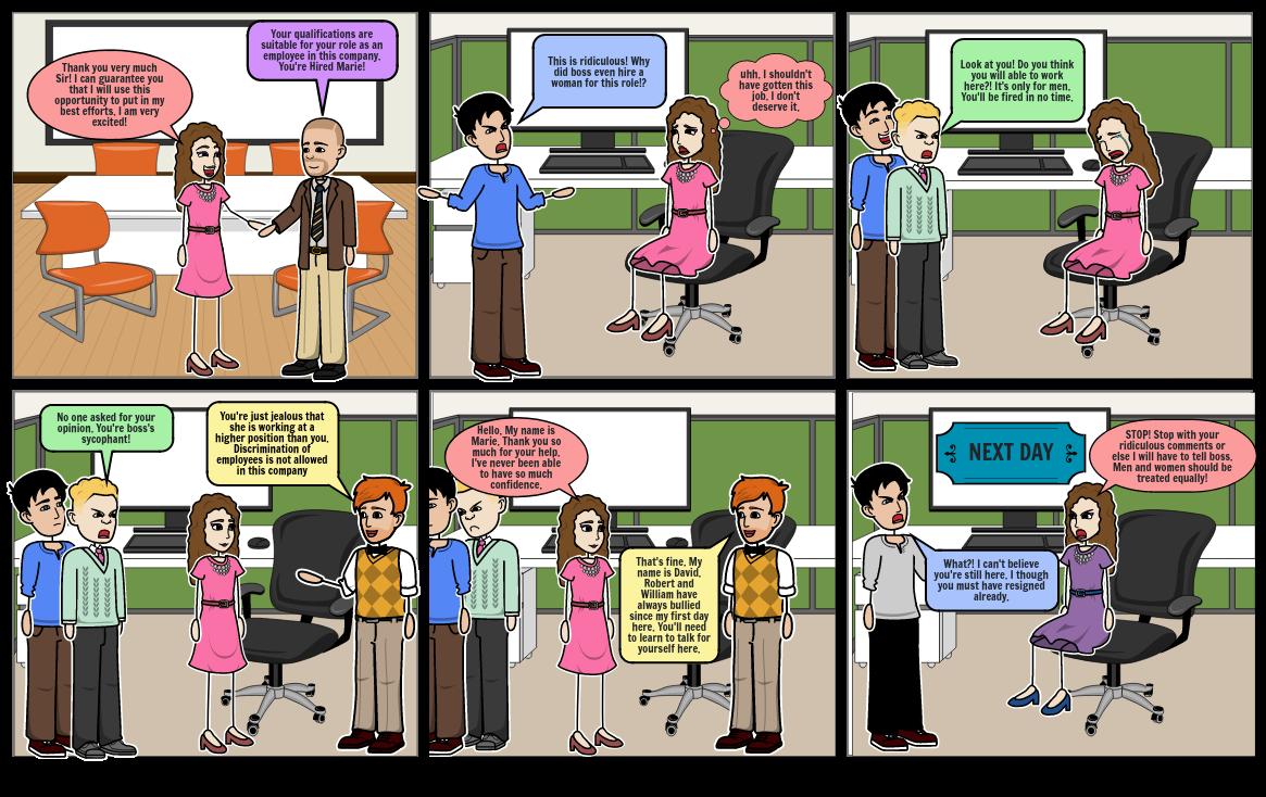 Gender Discrimination - PDHPE Assessment Task Storyboard
