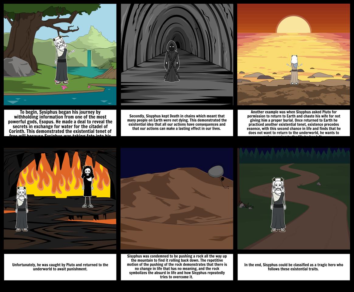 The Myth of Sisyphus Storyboard by 6d51b410