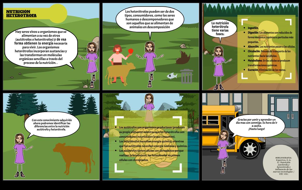 Comic Nutrición Autotrofa Y Heterotrofa Part 2