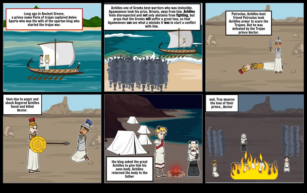 illiad. the Trojan war