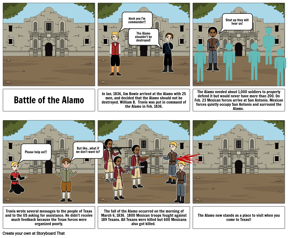The Battle of the Alamo.
