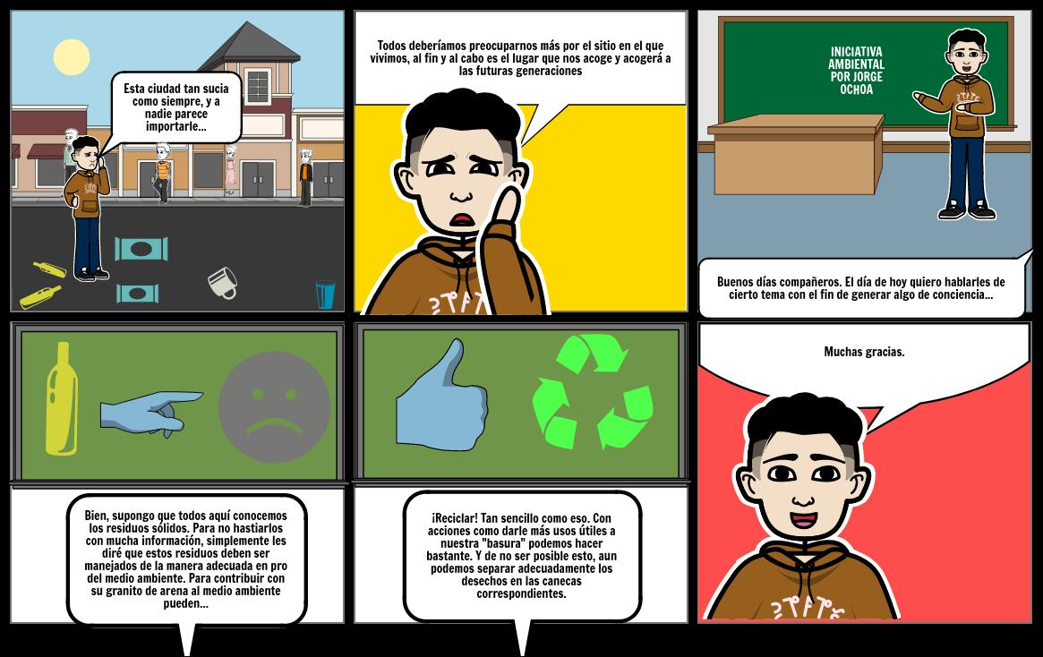 Storyboard ambiental por Ronald Camargo