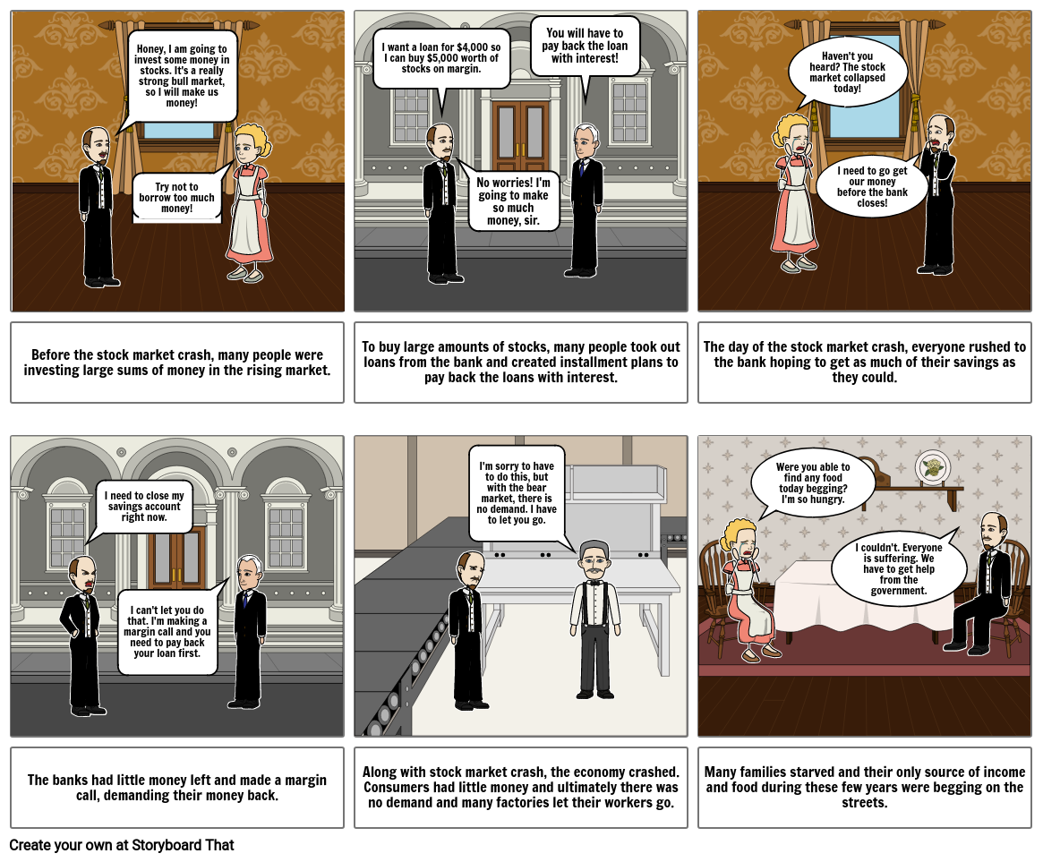 The Great Depression Storyboard by 729c2a67  Installment Plan Great Depression