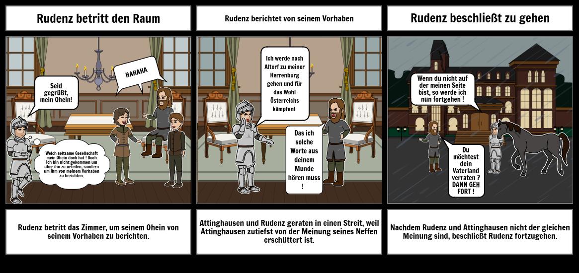 Storyboard zu Wilhelm Tell