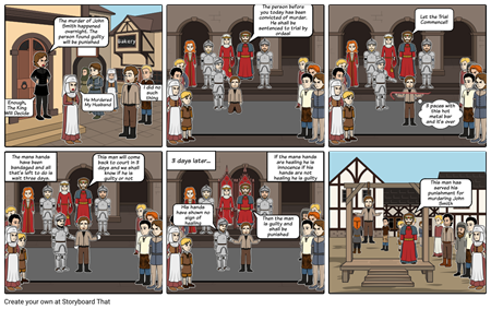 Medieval Crime and Punishment: Comic Strip