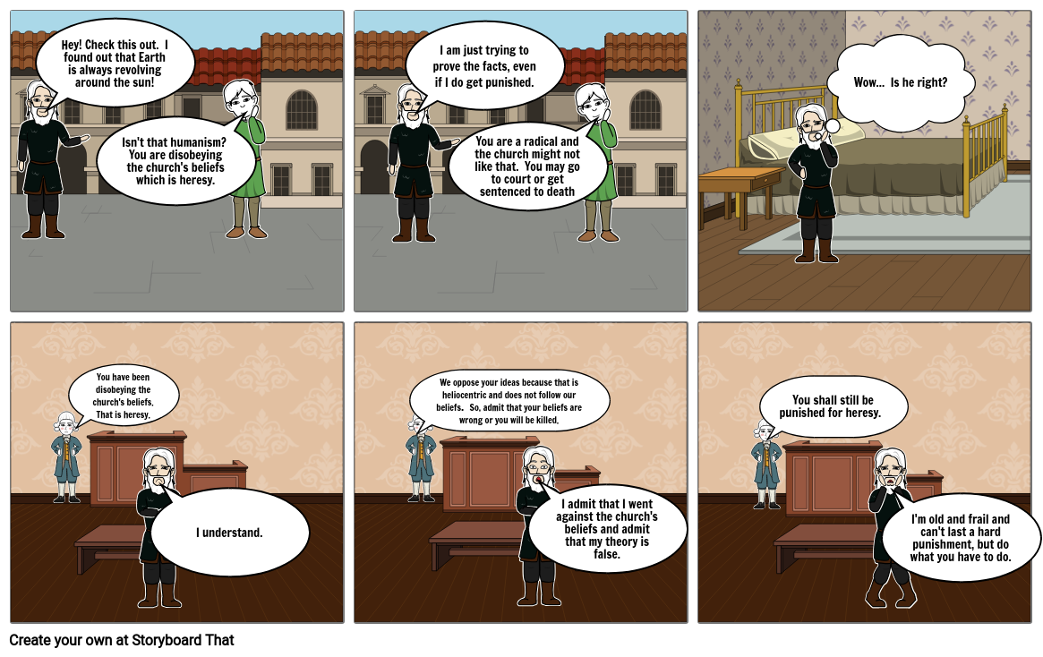 Galileo Humanism Cartoon