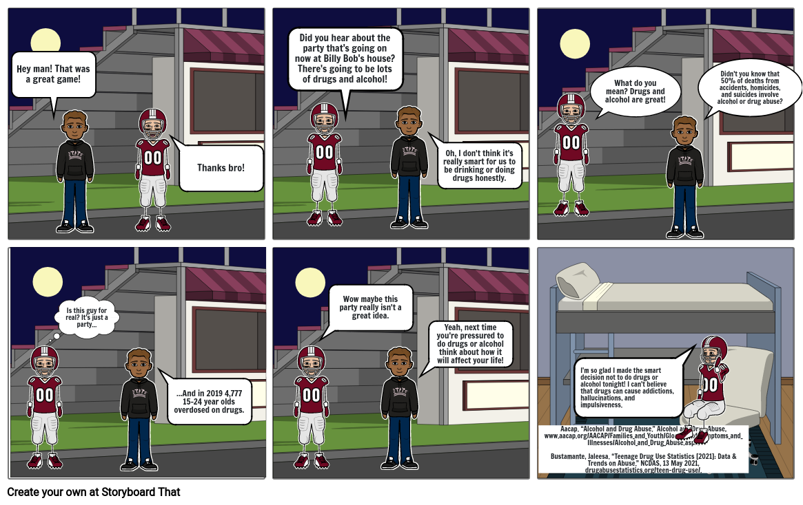 Health Risk Behavior Comic Strip