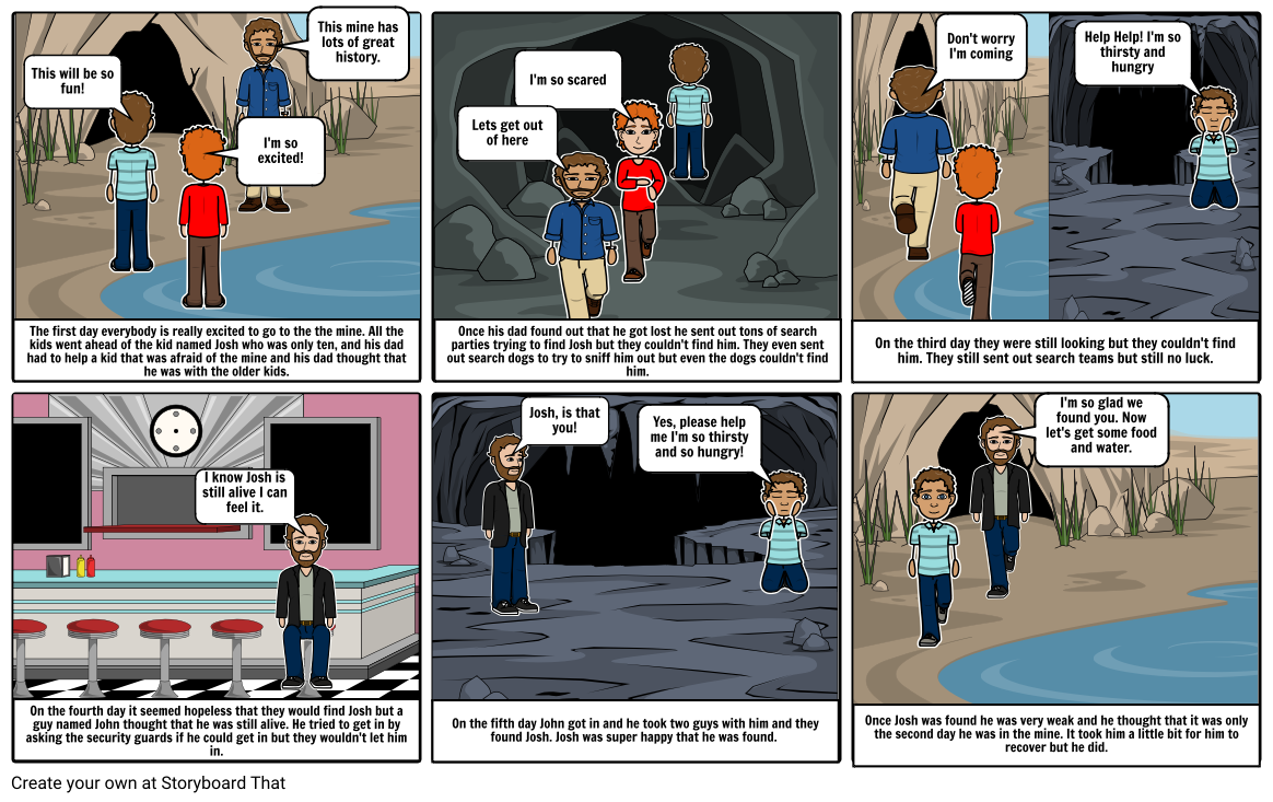 Ryan Young     5 Days In a Mine storyboard