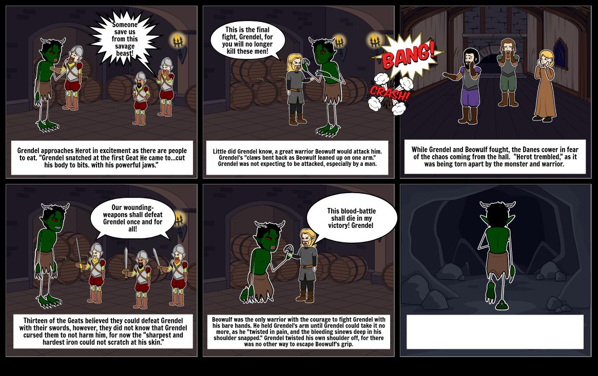 Beowulf v Grendel