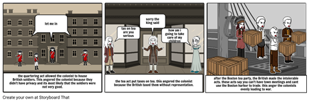 the angered colonists