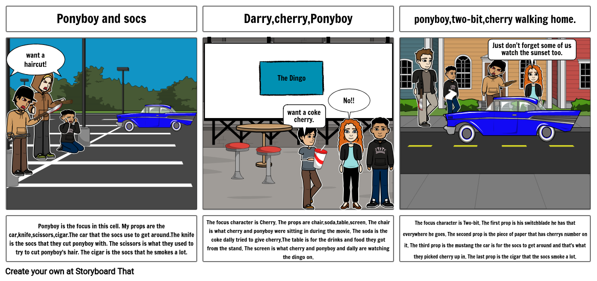 storyboard for reading
