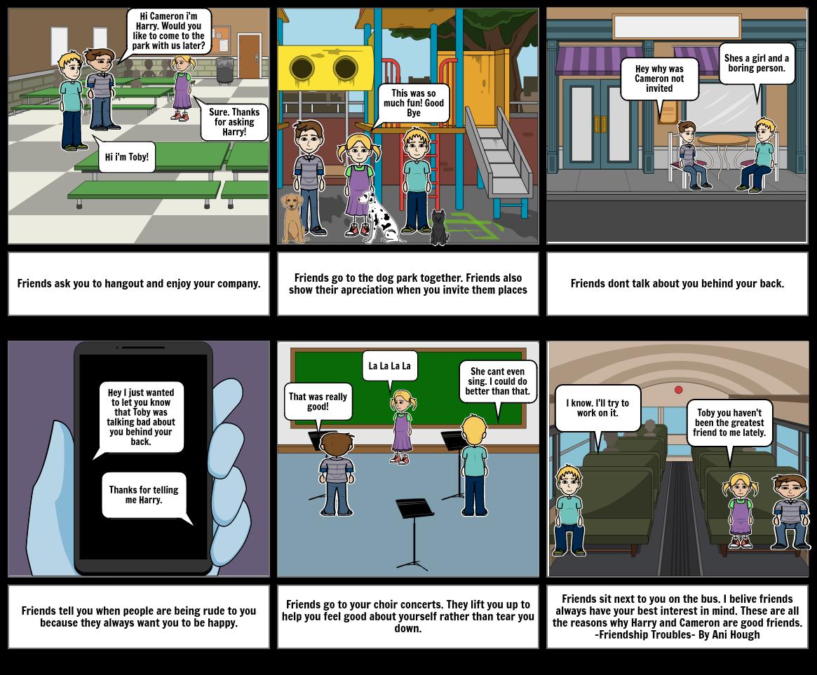 friendship story board