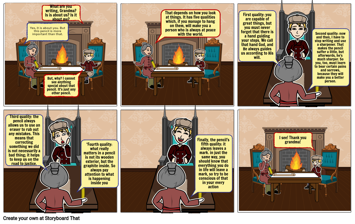 the story of the pencil storyboard by 78ee546d