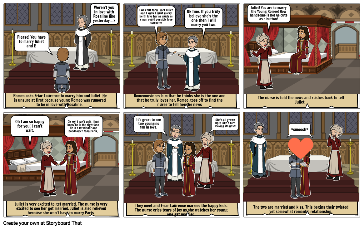 Romeo and Juliet Project-Comic Strip