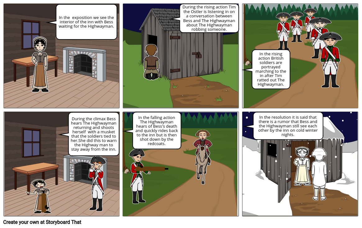 The Highwayman Storyboard