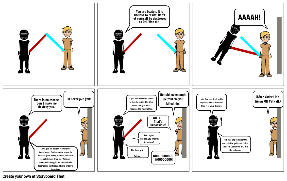 """Star Wars - """"I Am Your Father"""" Scene 