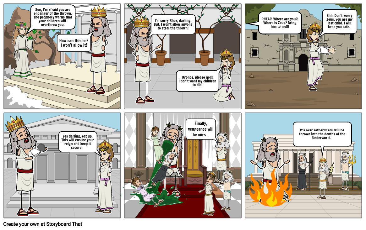 Greek Mythology Storyboard - Jadon Radkewich