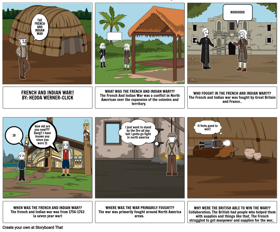 French and Indian war Comic strip by hcw
