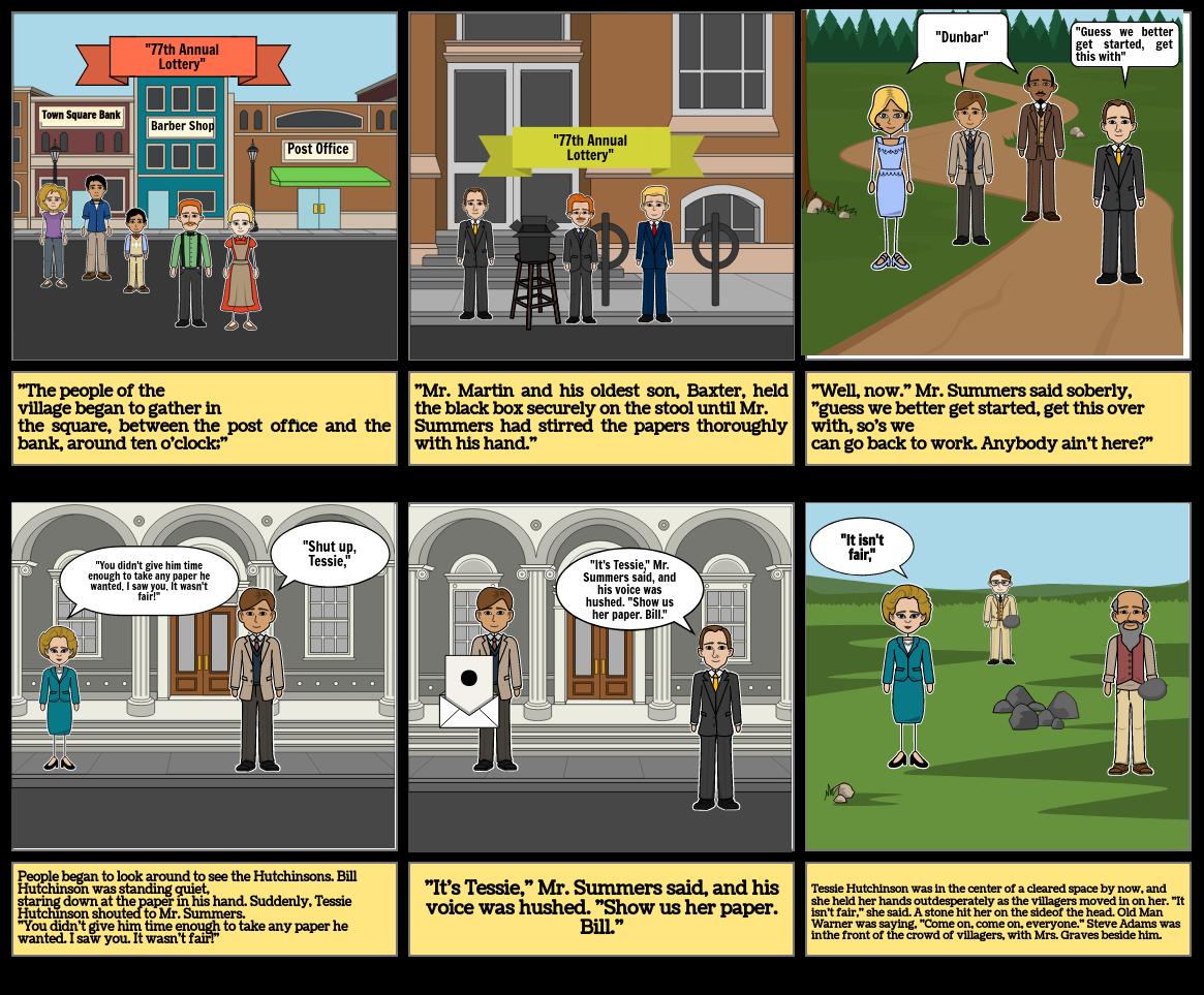 """The Lottery"" Storyboard Lillyan Hill P.1 2020"